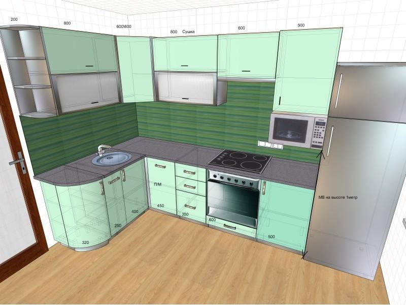 проектирование кухни готовые кухни дач садовых